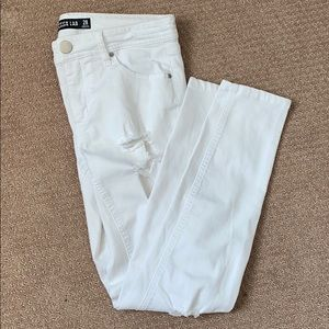 White Ripped Design Lab Jeans